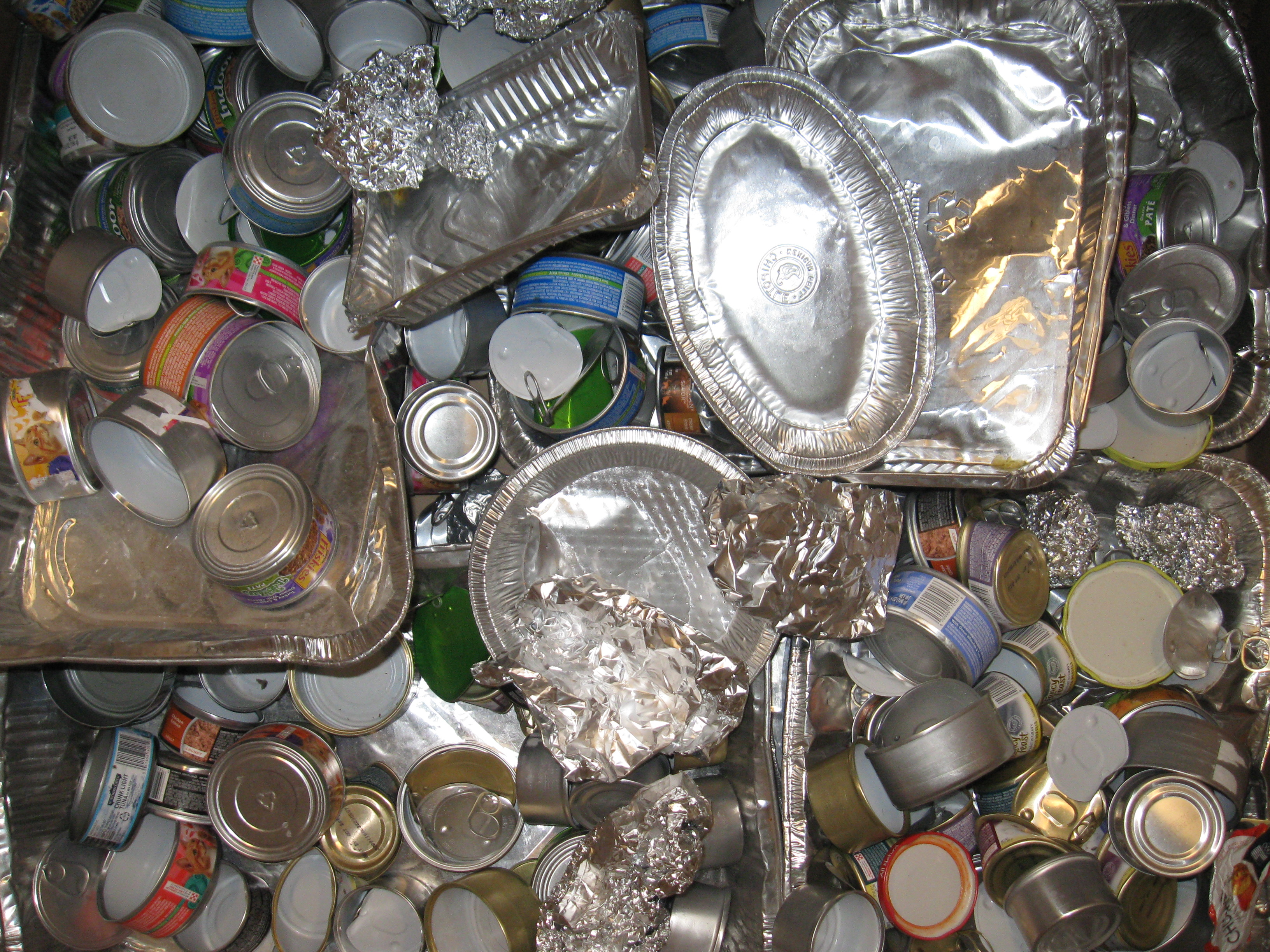 Other Aluminum - clean foil, baking pans, scrap, cat food cans that are white inside