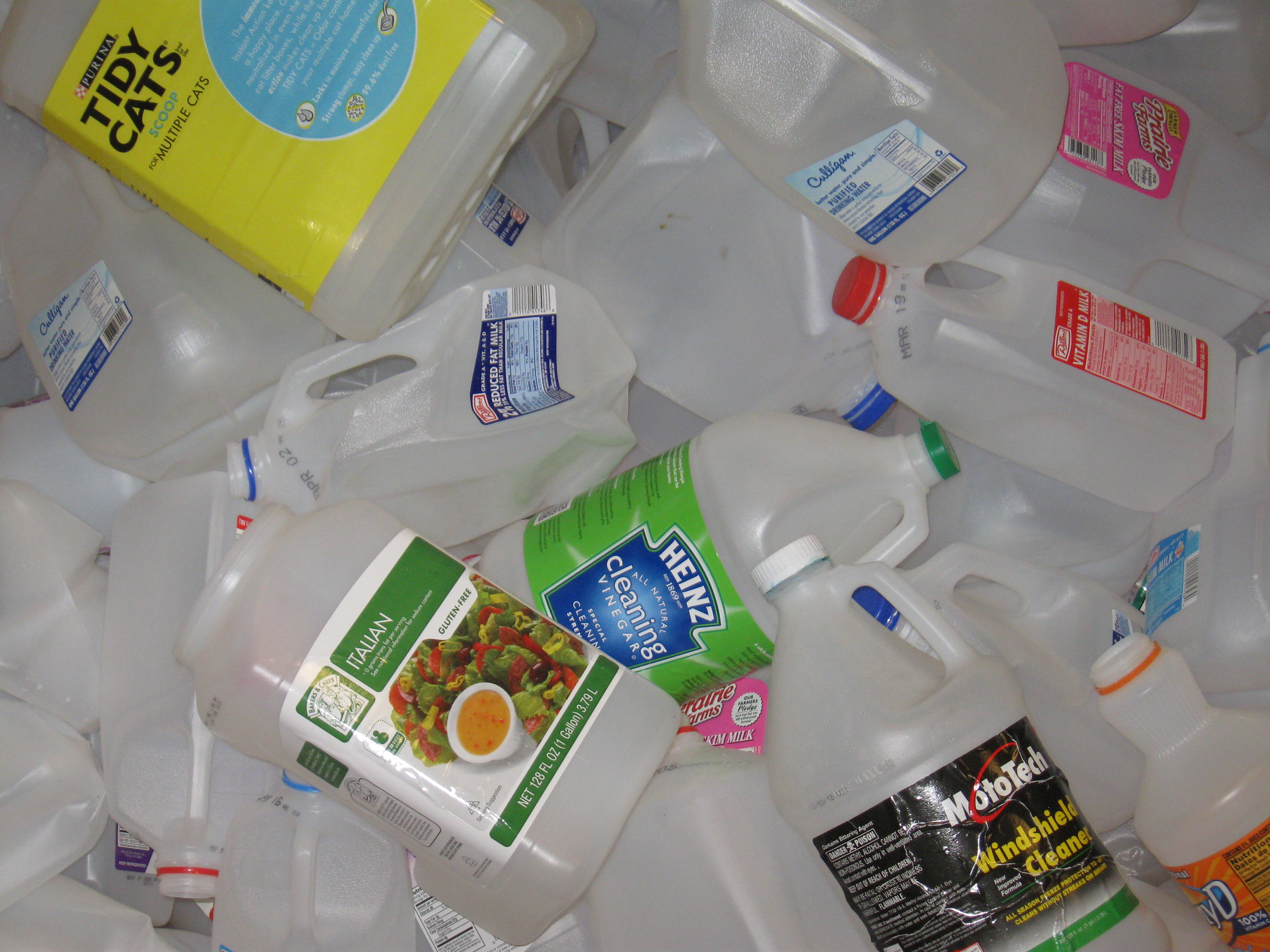 #2 Cloudy Jugs and Bottles –milk, vinegar, cat litter, SunnyD, windshield washing solution, etc. (w/bottom seam)